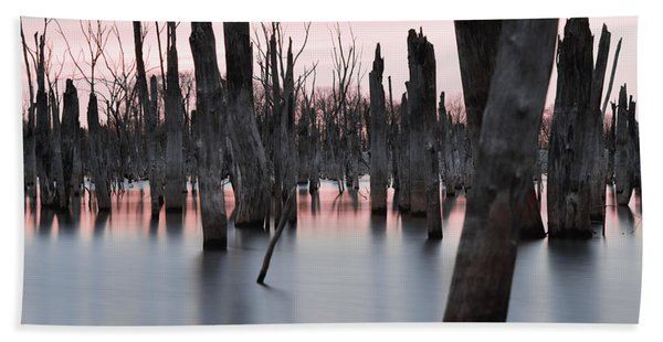 Forest In The Water Hand Towel