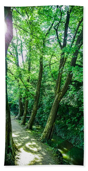 Bath Towel featuring the photograph Forest Path by Bee-Bee Deigner
