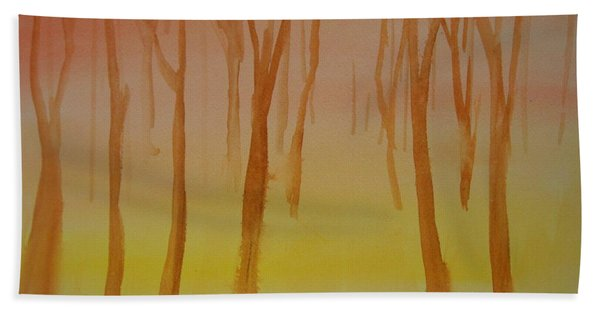Forest Study Hand Towel