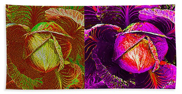 Four Cabbage  Hand Towel