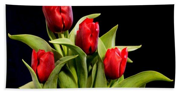 Four Tulips Hand Towel