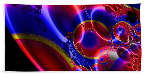 Fractal Luminescent Coloured Moon Bath Towel