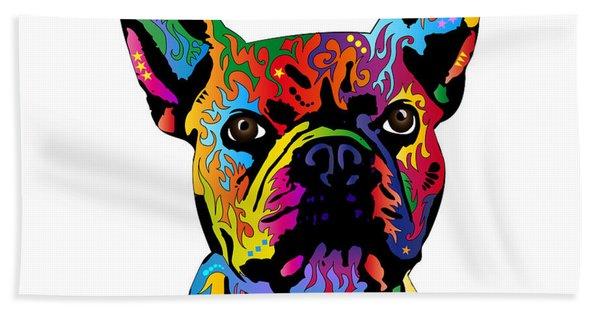 French Bulldog Hand Towel