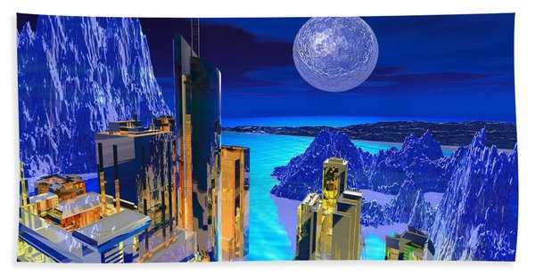 Futuristic City Hand Towel