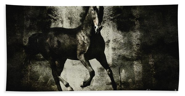 Galloping Horse Artwork Hand Towel