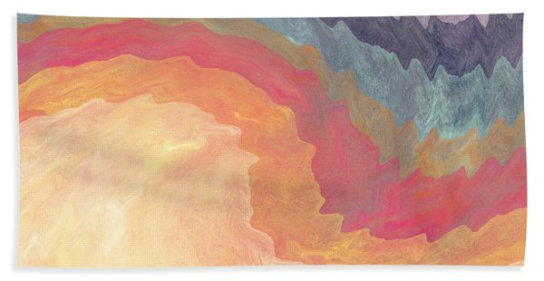 Gather And Give Thanks- Abstract Art By Linda Woods Bath Towel
