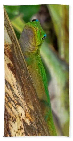 Gecko Up Close Bath Towel