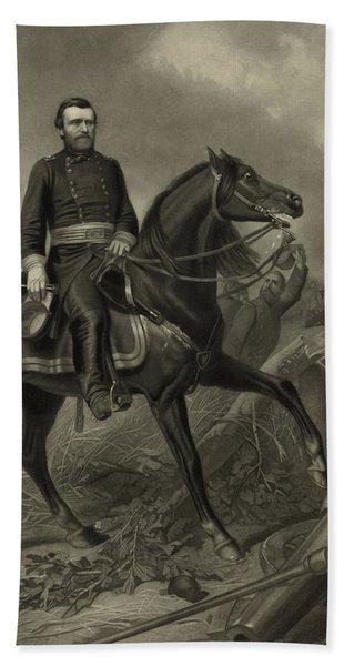 General Grant On Horseback  Hand Towel