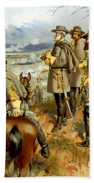 General Lee At The Battle Of Fredericksburg Hand Towel