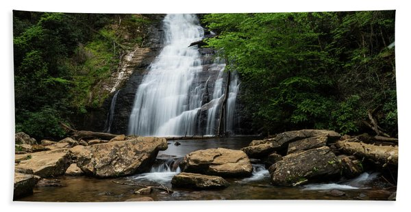 Gentle Waterfall North Georgia Mountains Hand Towel