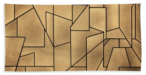 Geometric Abstraction IIi Toned Hand Towel