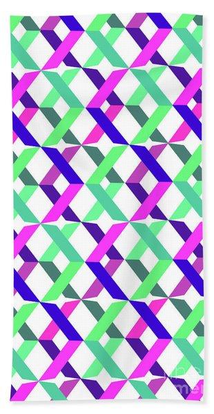 Geometric Crosses Bath Towel