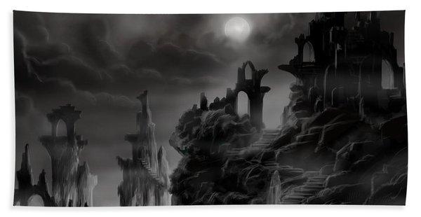 Ghost Castle Hand Towel