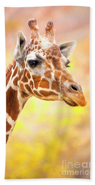 Giraffe, Animal Decor, Nursery Decor,  Bath Towel