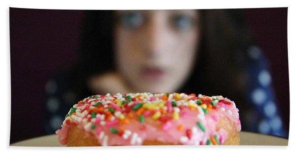 Girl With Doughnut Bath Towel