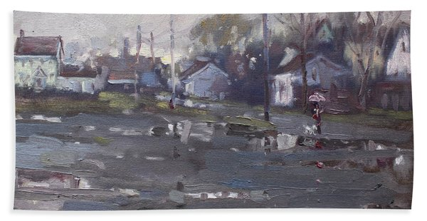 Gloomy And Rainy Day By Hyde Park Hand Towel