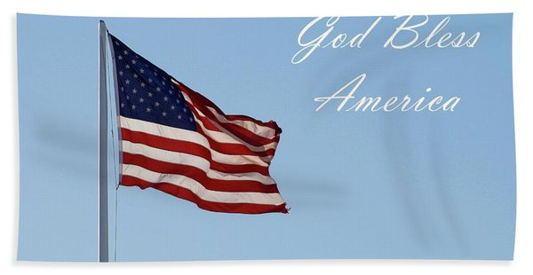 God Bless America Bath Towel