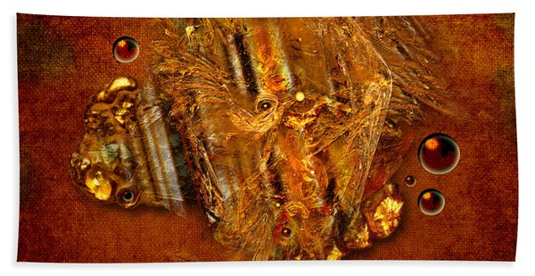 Gold Angel Hand Towel