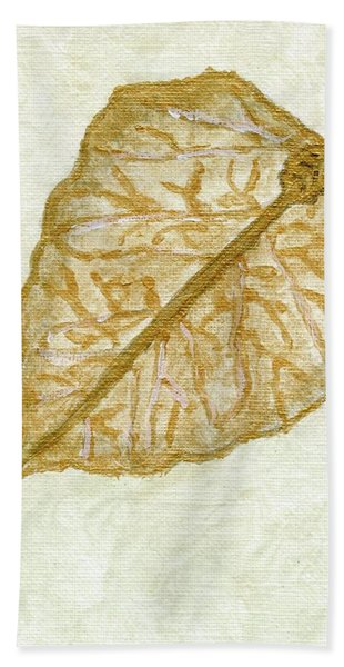 Gold Leaf Bath Towel