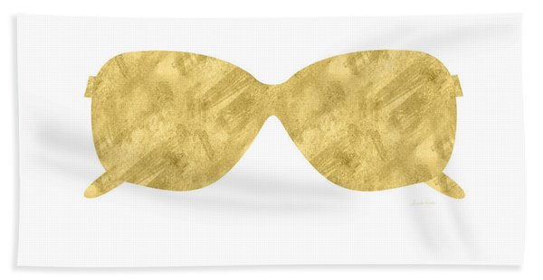 Gold Shades- Art By Linda Woods Bath Towel