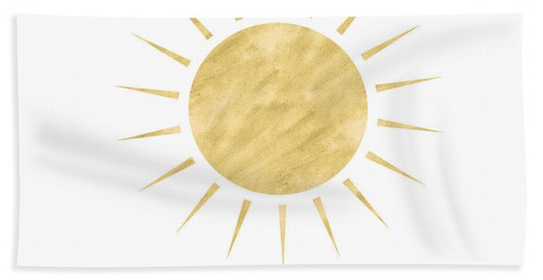 Gold Sun- Art By Linda Woods Bath Towel