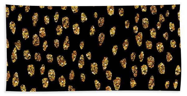 Golden Dots Bath Towel