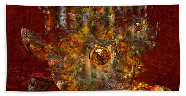 Golden Fish In The Lake Hand Towel