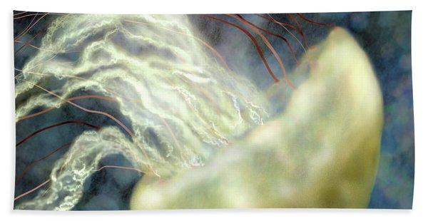 Golden Light Jellyfish Bath Towel