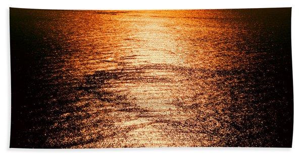 Golden Sea In Alanya Bath Towel