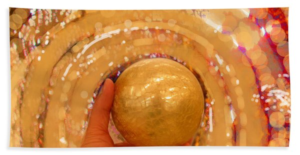 Golden Sphere Hand Towel