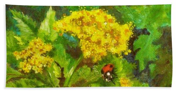 Golden Summer Blooms Hand Towel