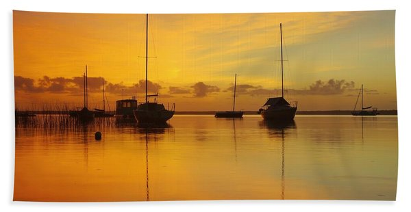 Golden Sunrise At Boreen Point Hand Towel
