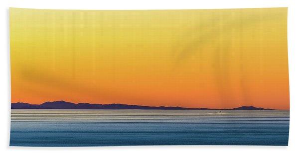 Golden Sunset Series I Bath Towel
