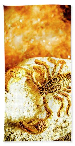 Golden Treasures Bath Towel