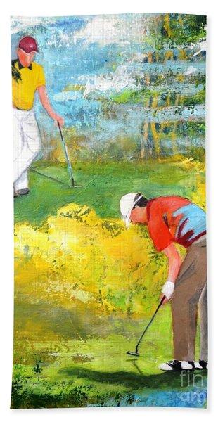 Golf Buddies #2 Hand Towel