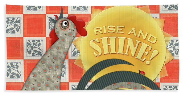 Good Morning Rooster Hand Towel