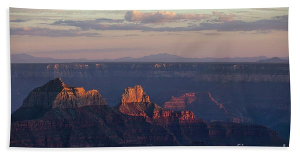 Grand Canyon At Sunset Hand Towel