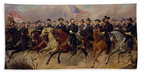 Grant And His Generals Hand Towel