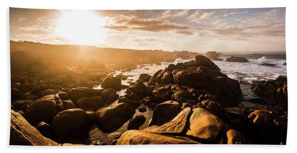 Granville Harbour Tasmania Sunrise Hand Towel