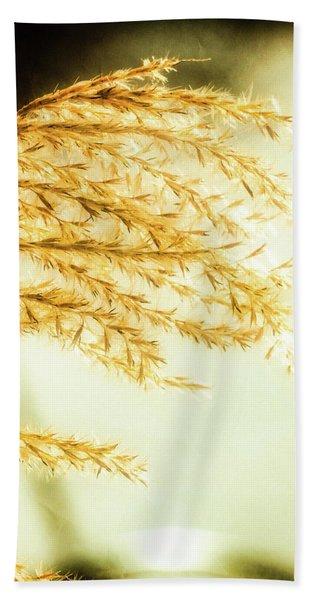Grasses Of Gold Bath Towel