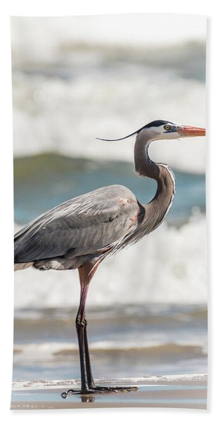 Bath Towel featuring the photograph Great Blue Heron Profile by Patti Deters