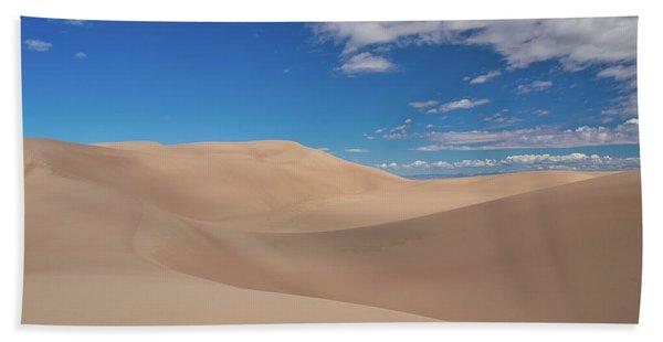Great Sand Dunes Under A Blue Sky Bath Towel