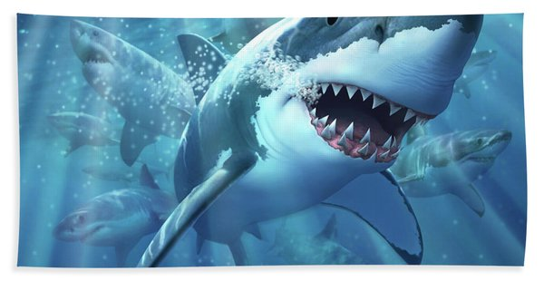 Great White Shark Hand Towel