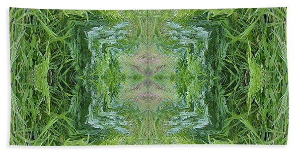 Green Fractal Hand Towel