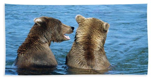 Grizzly Bear Talk Bath Towel