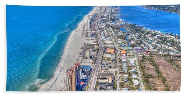 Gulf Shores Beach Looking W Hand Towel