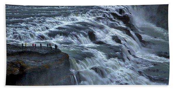 Gullfoss Waterfall #6 - Iceland Hand Towel