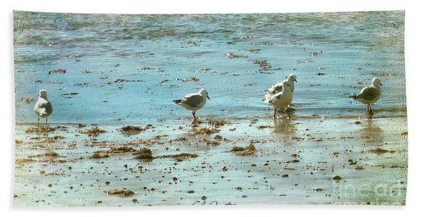 Gulls On The Edge Hand Towel