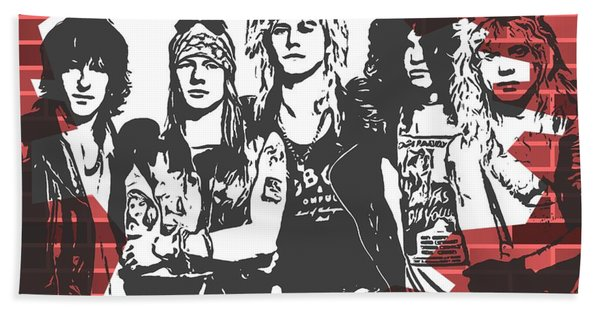 Guns N Roses Graffiti Tribute Bath Towel