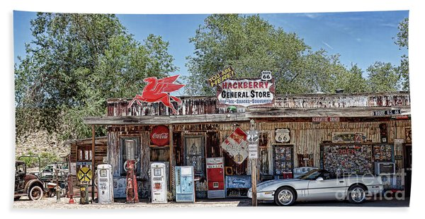 Hackberry General Store On Route 66, Arizona Hand Towel